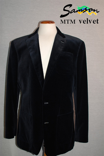 Mens Navy Velvet jacket size 42