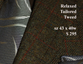 Mens tweed sportjackets Size 44