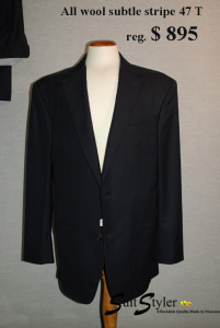 Ready made mens suits, dark Italian tailored suits