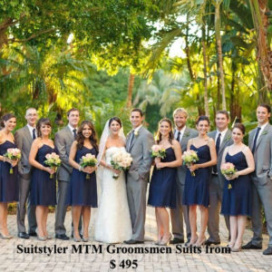 tailored wedding parties, grooms & groomsmen outfits