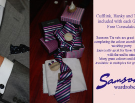 Cufflink, Tie and Hanky sets