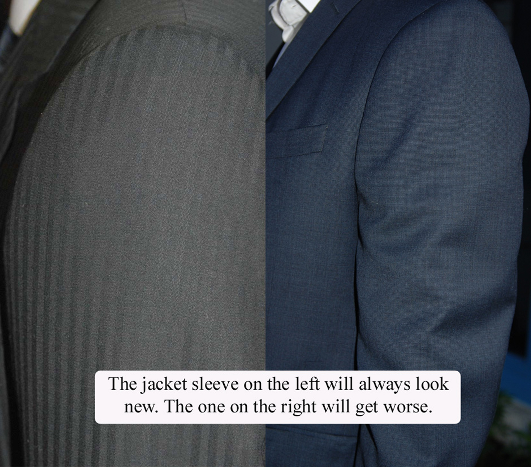 How should a suit sleeve look? Suit sleeve tailoring